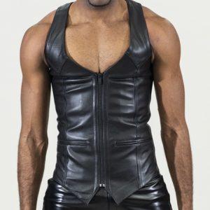 Male Black Leather Corset